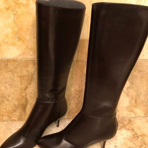 Jimmy Choo Dk. Brown Leather Boots